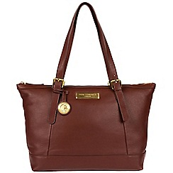 Pure Luxuries London - Auburn brown 'Blossom' soft leather handbag  Deluxe Collection