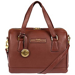 Pure Luxuries London - Auburn brown 'Dahlia' soft leather handbag - Deluxe Collection