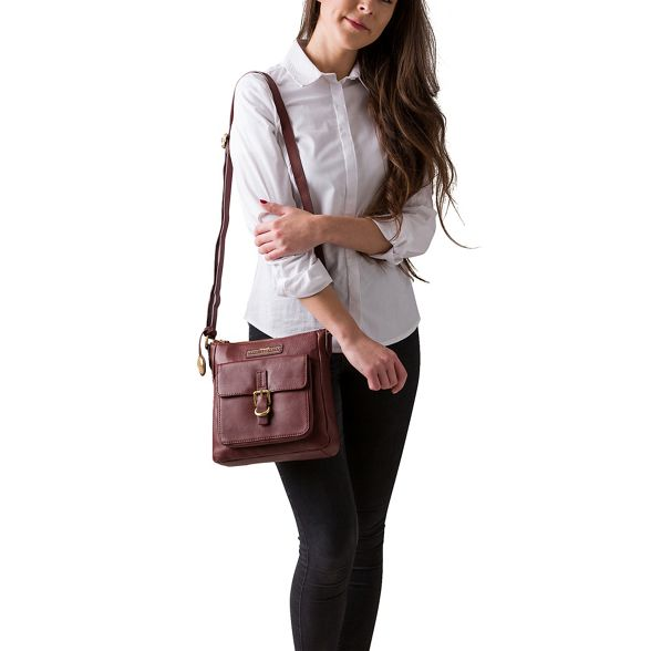 leather Luxuries body 'Libbi' soft Auburn Collection bag cross Pure Deluxe brown London xwdqYw6H
