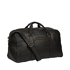 Pure Luxuries London - Black 'Drake' leather holdall