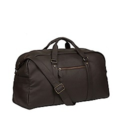 Pure Luxuries London - Brown 'Drake' leather holdall