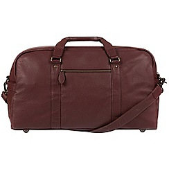 Pure Luxuries London - Oxblood 'Drake' natural leather holdall
