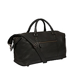Pure Luxuries London - Black 'Mallory' leather holdall