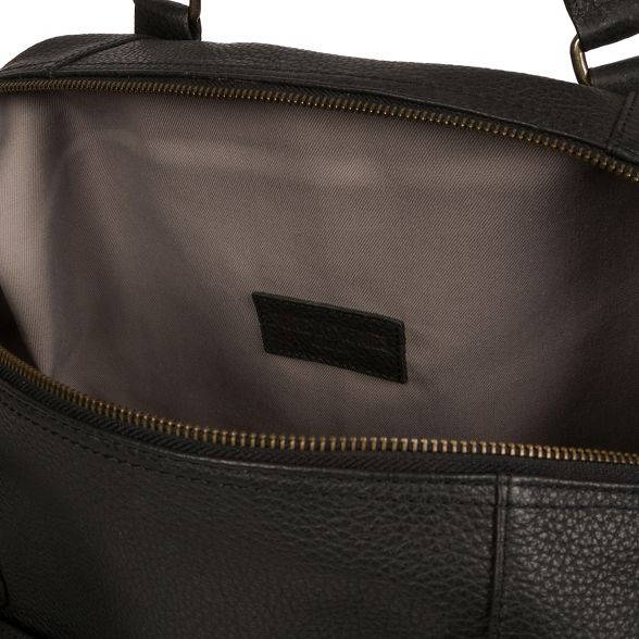 leather 'Mallory' Pure holdall Black London Luxuries 40nqqxRaB