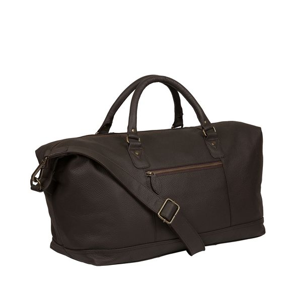 Pure leather Luxuries 'Mallory' Brown London holdall gqO4nrg8w