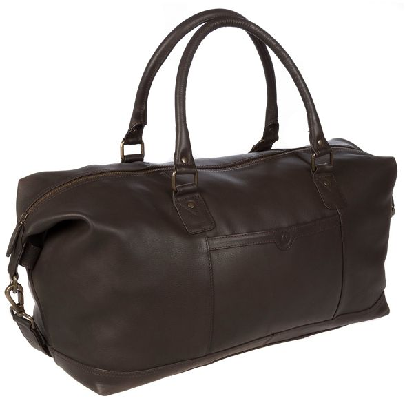 Brown Luxuries Pure London 'Mallory' leather holdall 6EOqfnOw