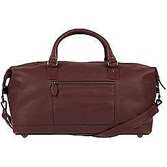 Pure Luxuries London - Oxblood 'Mallory' natural leather holdall