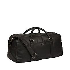 Pure Luxuries London - Black 'Shackleton' leather holdall