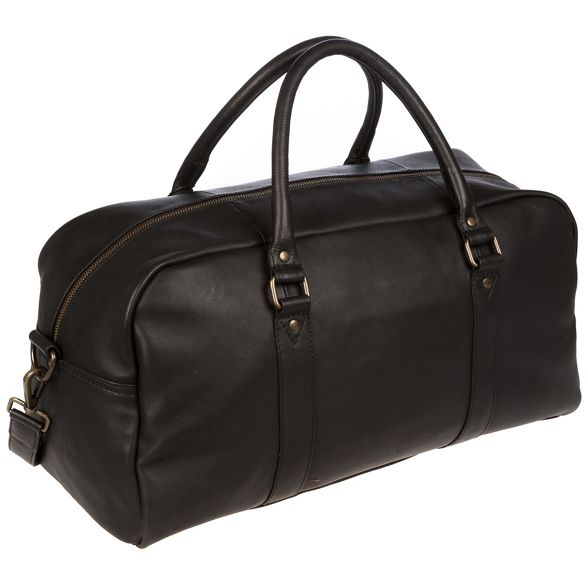 London Pure Black Luxuries holdall leather 'Shackleton' 6Aw15wfq
