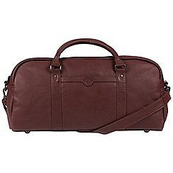 Pure Luxuries London - Oxblood 'Shackleton' genuine leather holdall