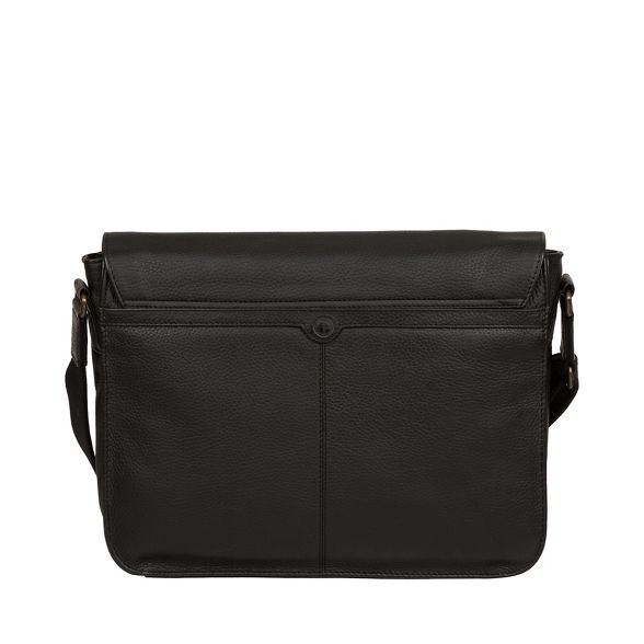 Luxuries leather 'Lawrence' Black Pure London messenger bag dx1qfw