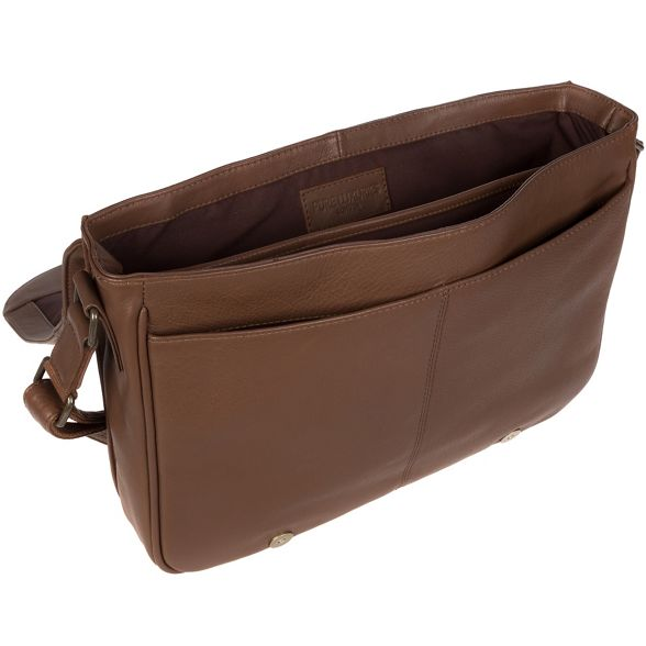 London 'Lawrence' messenger bag Luxuries Pure leather chestnut Dark ITzcvWW5q