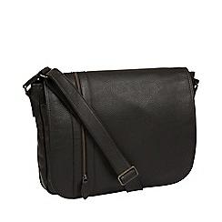 Pure Luxuries London - Black 'Byron' leather messenger bag