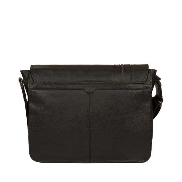 messenger Luxuries leather bag Black London Pure 'Byron' 17wqUwT