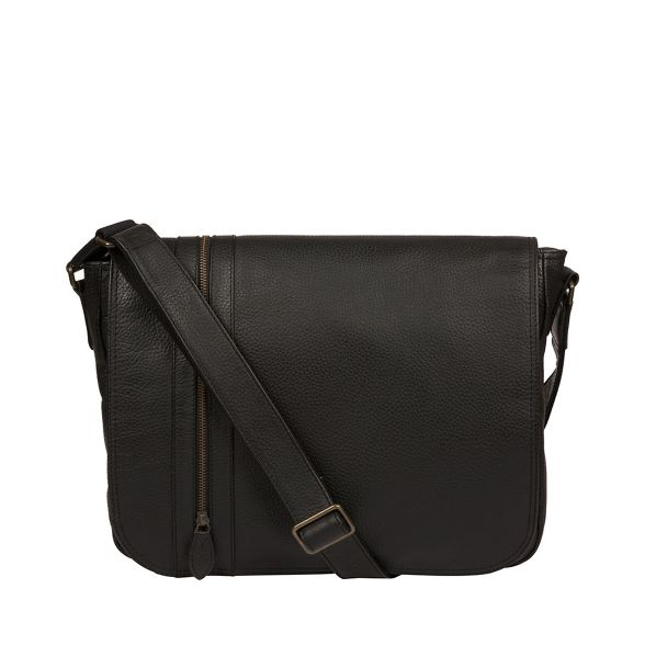 leather bag London 'Byron' Luxuries Black Pure messenger xF8Ivcq
