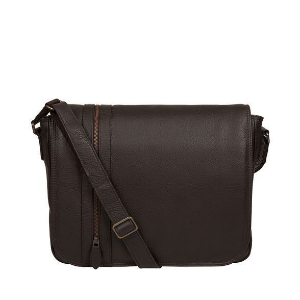 bag 'Byron' Pure London Brown leather Luxuries messenger Aq8Ygw47