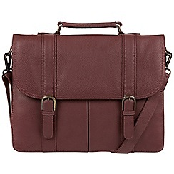 Pure Luxuries London - Oxblood 'Caxton' natural leather briefcase