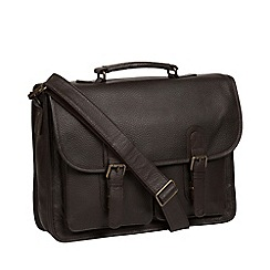 Pure Luxuries London - Brown 'Scott' leather briefcase