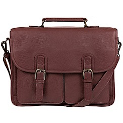 Pure Luxuries London - Oxblood 'Scott' natural leather briefcase