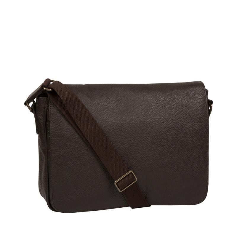 Pure Luxuries London - Brown Keats Leather Messenger Bag