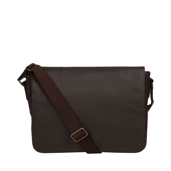 messenger bag Pure Brown 'Keats' Luxuries London leather wnnSTqPR