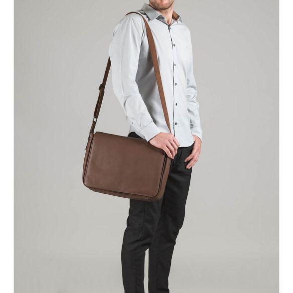 Dark London Luxuries bag messenger leather chestnut Pure 'Keats' qEvgwwz