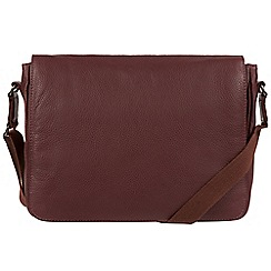 Pure Luxuries London - Oxblood 'Keats' natural leather despatch bag