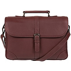 Pure Luxuries London - Oxblood 'Wallace' natural leather briefcase
