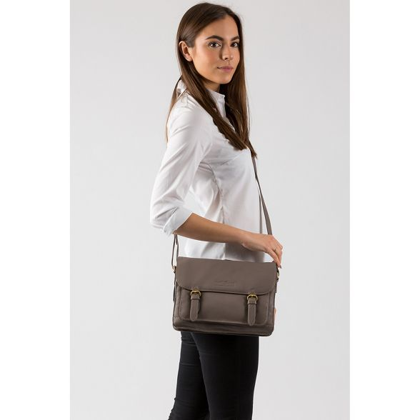 small satchel leather Pure Grey cowhide Luxuries soft 'Alba' London wawxUHSqB