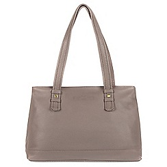Pure Luxuries London - Grey 'Hope' soft cowhide leather handbag