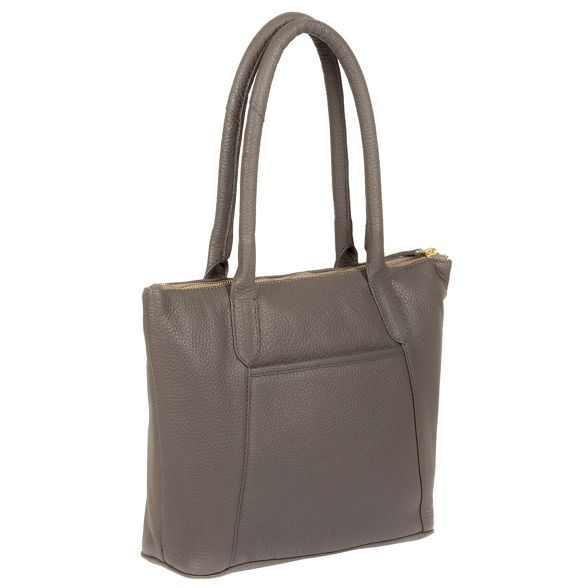 Pure leather Luxuries 'Alnwick' handbag Grey London 81wP4q8R