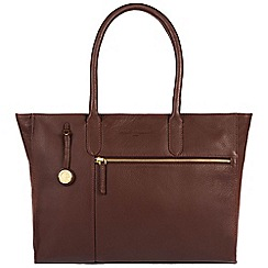 Pure Luxuries London - Auburn 'Bexley' leather handbag with gold-coloured detailing
