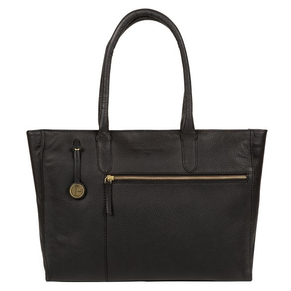 with 'Bexley' Luxuries handbag London detailing leather Pure Black gold coloured ZtIAwqwf