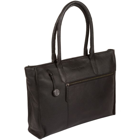 handbag with 'Bexley' London Black leather platinum detailing Pure Luxuries coloured Yq4RXX