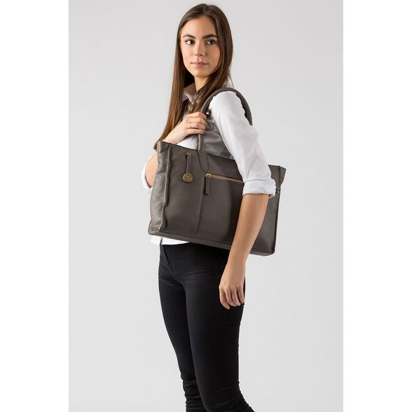 leather 'Bexley' Grey Luxuries Pure handbag London zqIwU