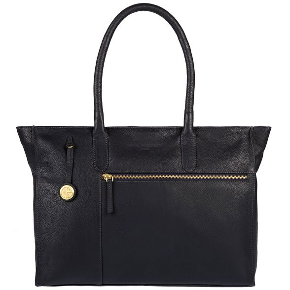 London with Navy detailing leather gold coloured Luxuries Pure handbag 'Bexley' EqwYvz5