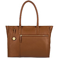 Pure Luxuries London - Tan 'Bexley' leather handbag with gold-coloured detailing