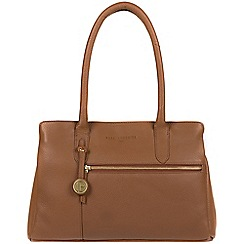 Pure Luxuries London - Dark tan 'Darley' leather handbag