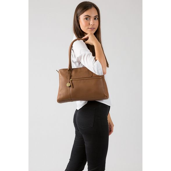 handbag Pure tan Dark Luxuries London 'Darley' leather nSqgYTwS