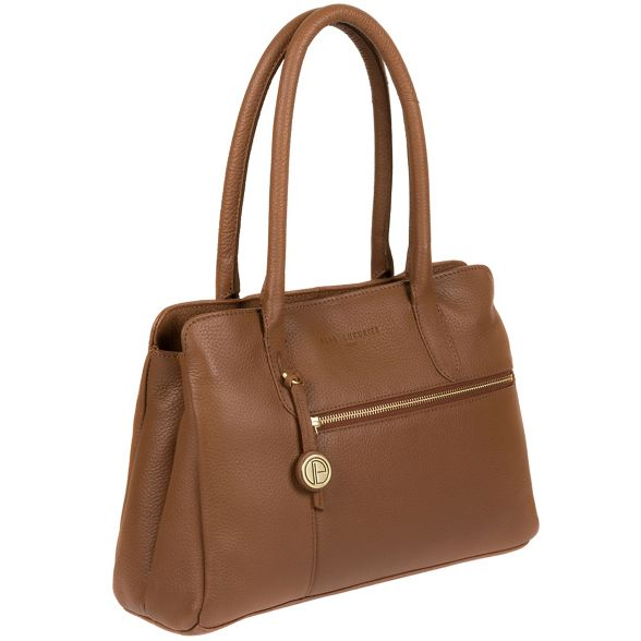 handbag Dark Luxuries 'Darley' London Pure tan leather FEYwSZqd