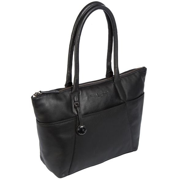 Luxuries platinum London with handbag detailing leather 'Eton' Black coloured Pure w1dFqw
