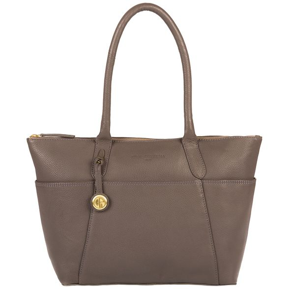 detailing Pure Luxuries coloured London gold Grey with leather 'Eton' handbag vvprqw
