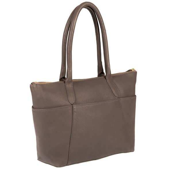 handbag coloured leather 'Eton' detailing with London Luxuries Pure Grey gold OxCXX7