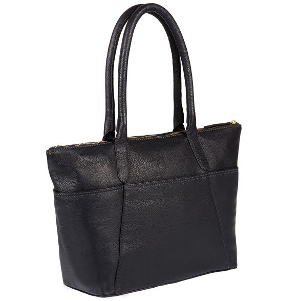 Luxuries Navy coloured gold 'Eton' Pure leather detailing handbag with London d8q6wxw0E