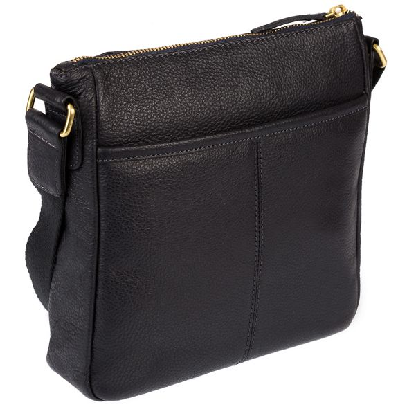 leather 'Fleet' coloured detailing gold London Navy bag Luxuries with Pure BqIA66