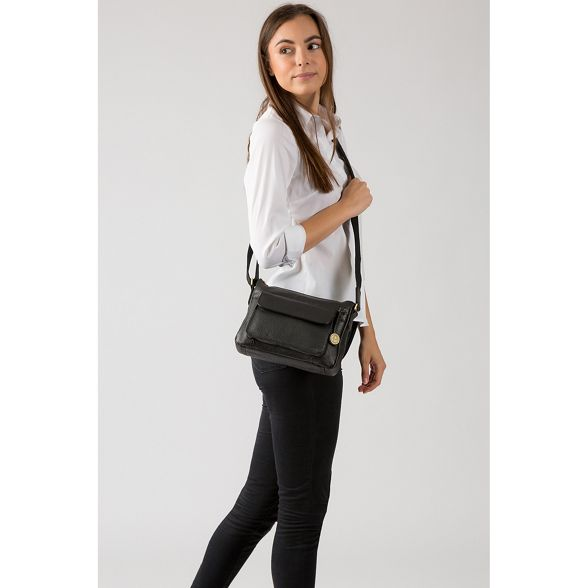 coloured 'Guildford' leather with London Luxuries bag Pure Black detailing gold ag8wqv8