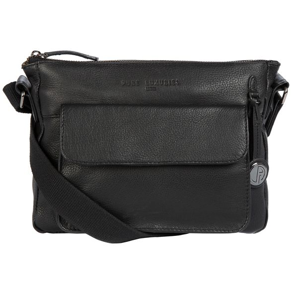 leather coloured detailing 'Guildford' with London small Pure Luxuries Black platinum bag gSqAq
