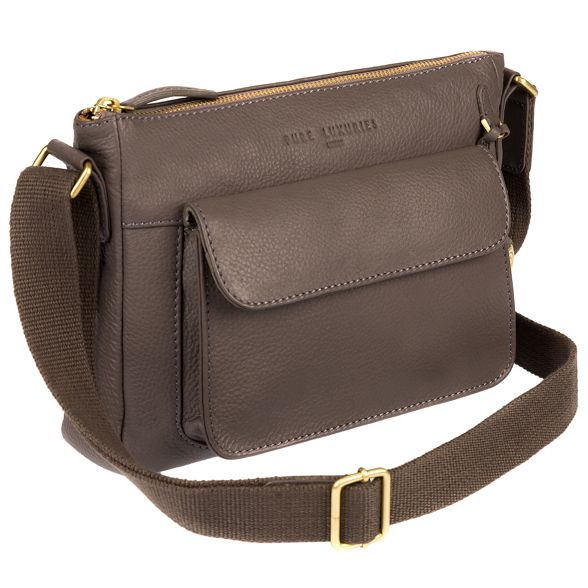 detailing Grey gold coloured Luxuries with leather London Pure bag 'Guildford' qzPHpO