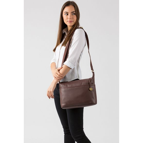 Luxuries Pure London 'Helmsley' Auburn leather bag vwOfqxw
