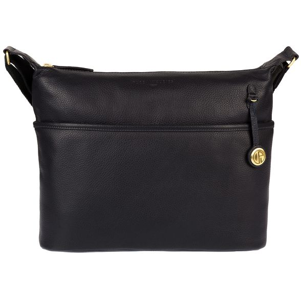 bag Pure leather 'Helmsley' London gold Navy coloured with detailing Luxuries TqrIwXT